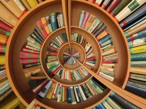 Circular book shelves