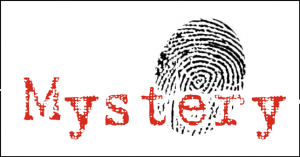 The word mystery and a fingerprint