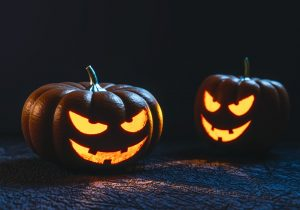 Pair of jack-o-lanterns