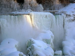 Wintery waterfalls