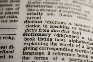 Dictionary page for dictionary