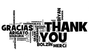 Thank you in a number of languages