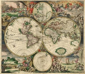 World map from 1689