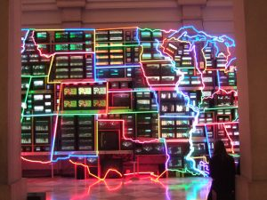 Electronic Superhighway by Paik Nam June
