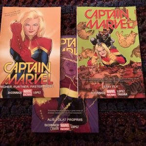 Captain Marvel graphic novel covers