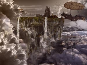 Floating city and airships