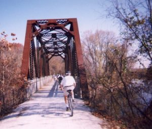 Bicyclists on the Katy Trail