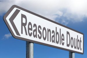 Reasonable doubt street sign