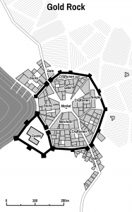 Randomly generated medieval city