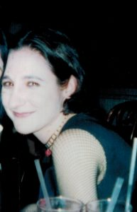 Me in 2003, with darker hair, paler skin, and wearing all black