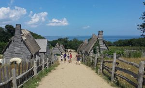 Houses at Plimoth Plantation in Plymouth, Massachusetts