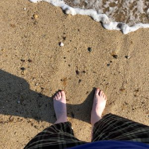 Dipping my toes in the Atlantic Ocean