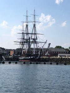 The USS Constitution in Boston Harbor